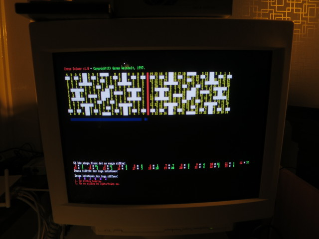 """Cross Solwer"" running on a PC of the era"